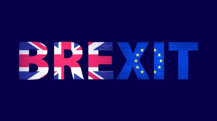 Brexit Text Isolated. United Kingdom Exit From Europe Relative I